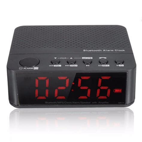 Mp3 Alarm Clock 1 6 by Bluetooth Speaker With Digital Led Display Alarm Clock Lifier Fm Radio Mp3 Player
