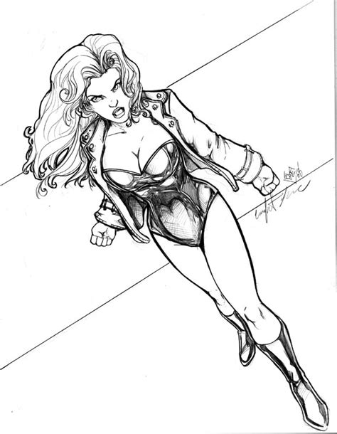 Black Canary Coloring Pages black canary coloring pages coloring pages