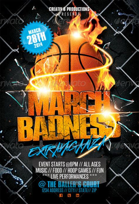 march madness flyer template theflyermarket