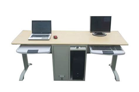 two person computer desk