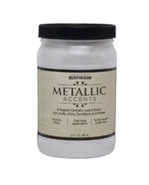 rust oleum 174 metallic accents white pearl paint 1 qt at menards 174
