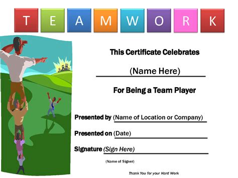 team awards certificates templates related keywords suggestions for teamwork certificates