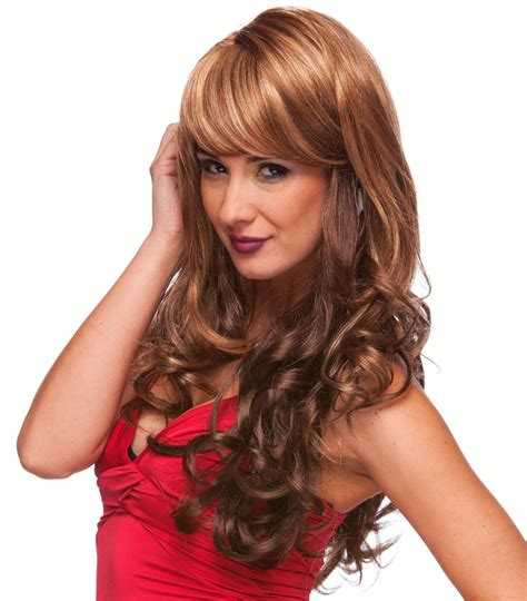 blended bangs blended curly wig with side swept bangs broadway