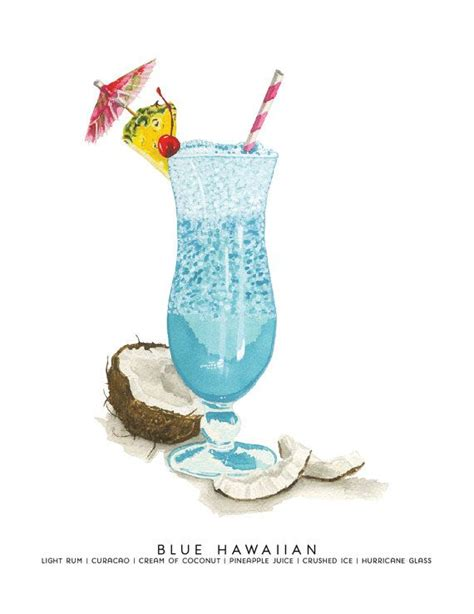 watercolor cocktail best 25 blue hawaiian ideas on pinterest blue hawaiian
