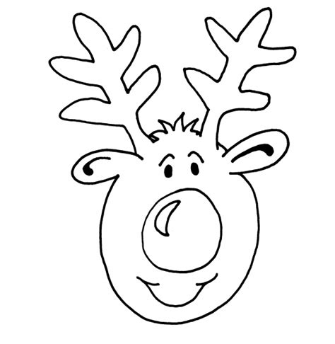 rudolph head coloring page best photos of rudolph face template rudolph reindeer