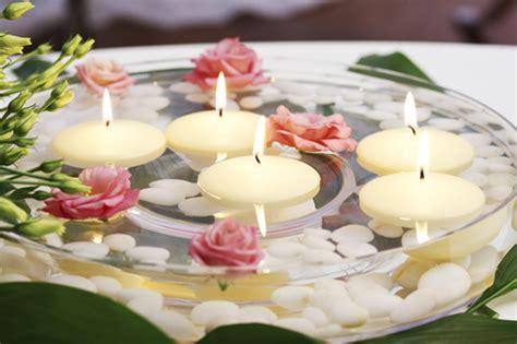 candele galleggianti centrotavola matrimonio matrimonio mon amour