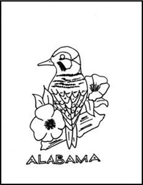 yellowhammer coloring page state of alabama bird and flower coloring sheet alabama