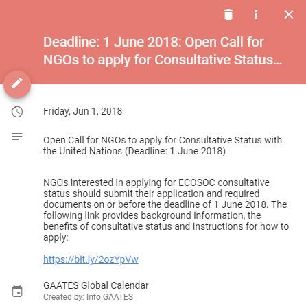 1 june 2018 is the deadline to apply for consultative