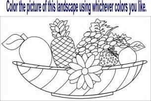 fruit worksheet coloring pages