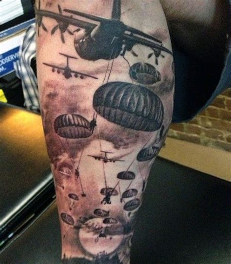 parachute tattoo 100 tattoos for memorial war solider designs