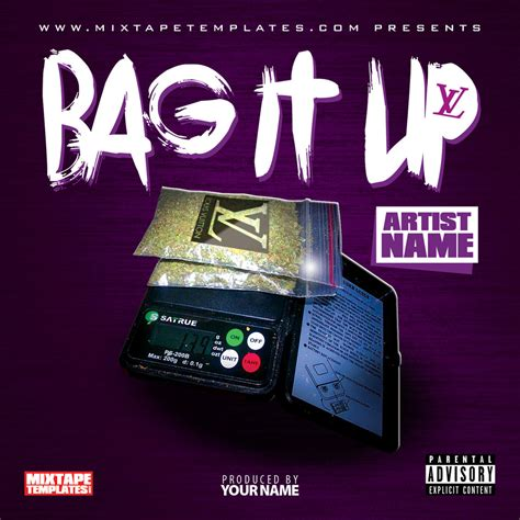 mixtape design templates bag it up mixtape cover template by filthythedesigner