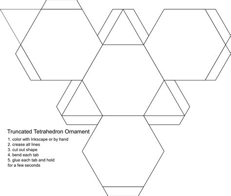 clipart blank truncated tetrahedron ornament