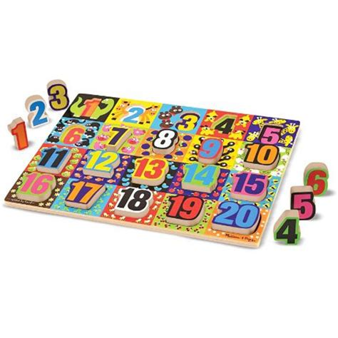 jumbo numbers chunky wooden puzzle educational toys planet