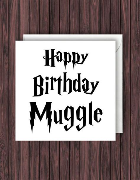 birthday muggle harry potter birthday card geek blank
