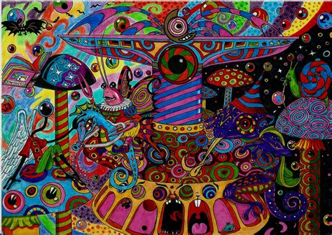 trippy wallpaper pinterest psychedelic merry go round by acid flo works of art