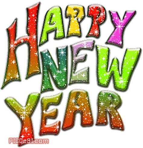 happy new year glitter graphics happy new year colorful glitter scrap picdesi