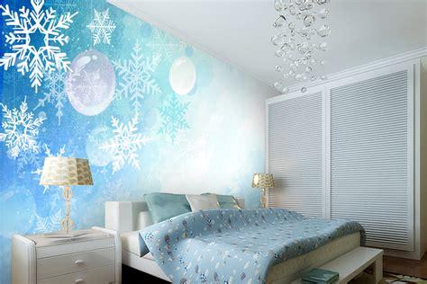 snowflake bedroom 2013 new modern blue snowflake dreaming room wall mural