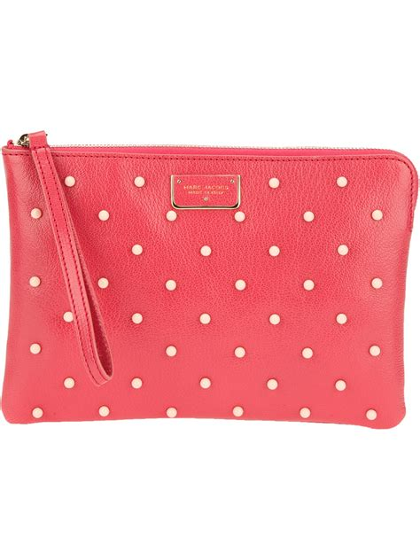 Marc By Marc Embroidered Clutch by Marc Beaded Clutch Bag In Pink Lyst