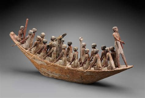 ancient egypt boats and transportation model of a transport boat museum of fine arts boston