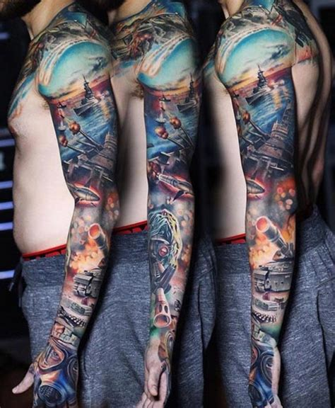 navy tattoo sleeve designs 36 sleeve tattoos for guys with style tattooblend