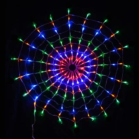 160 led multi coloured circular net light