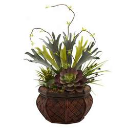 succulent planters succulent garden silk plant with decorative planter