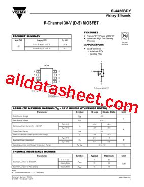 transistor a970 data sheet pdf si4425bdy datasheet pdf vishay siliconix
