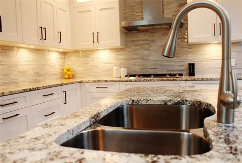 Kitchen Countertop Backsplash Ideas Make Your Elegant Kitchen With Alaska White Granite
