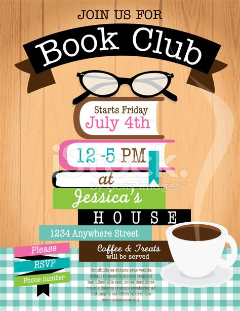 book club invitation template retro s book club event invitation design template