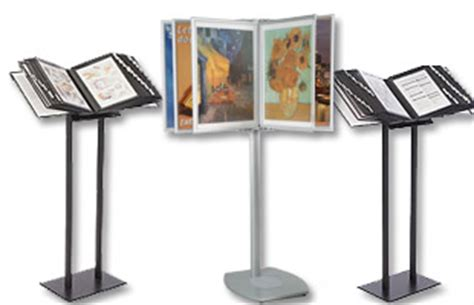swinging panel display display stands poster frames ipad stands more