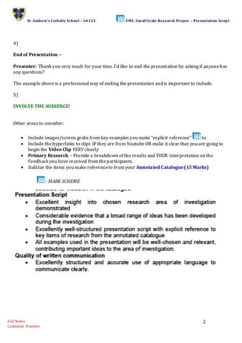 Presentation Script Template Presentation Script Template