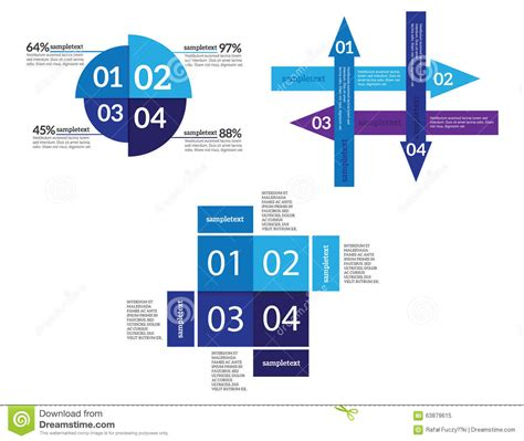 banner workflow vector infographic elements set stock vector image 63879615