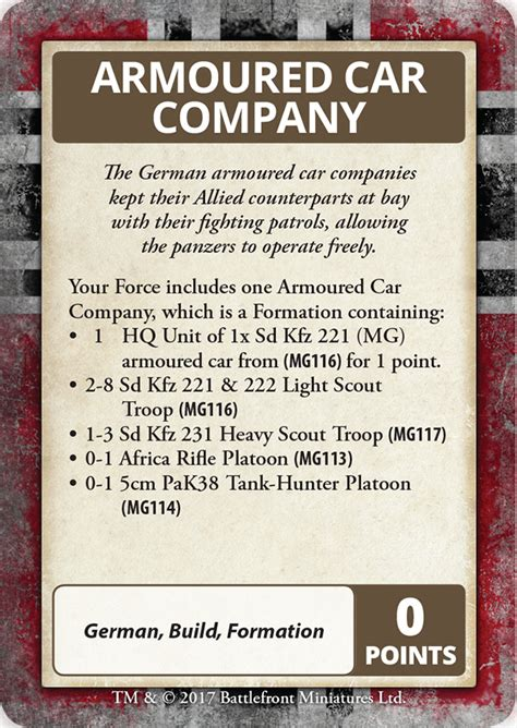 V4 Card Template Flames Of War by Gaming Aids