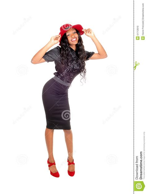 black tall standing l pretty tall black woman standing stock photo image