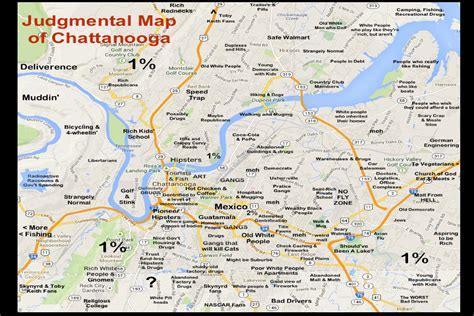 chattanooga map judgmental map of chattanooga featured in new book
