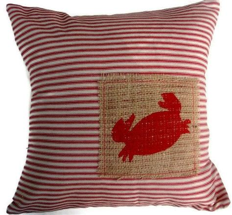 Beachy Decorative Pillows by Crab Coastal Nautical Decorative Pillow Cover