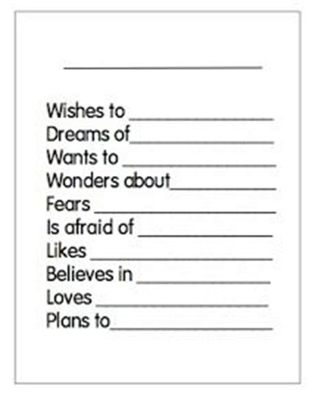 Writing A Bio Poem With Kids Free Printable Template At Waddlee Ah Chaa This Is Just The Jump Poetry Website Templates