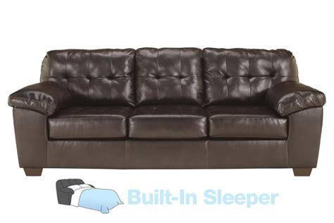 Leather Loveseat Sleeper Sofa Alliston Bonded Leather Sleeper Sofa At Gardner White