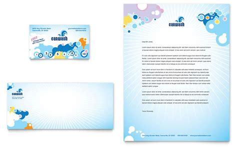 automotive business letterhead template car wash business card letterhead template design