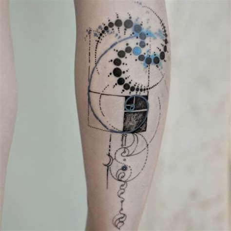 golden spiral tattoo 30 impeccable golden ratio tattoos amazing ideas