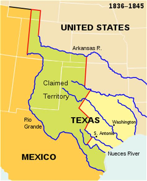 texas 1836 map what an independent texas would look like