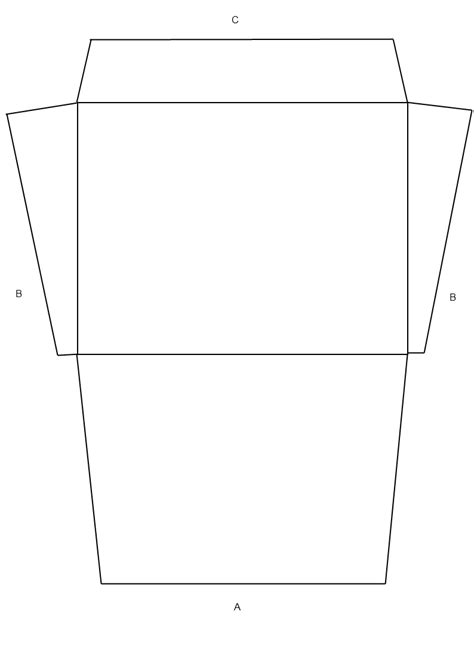 template for envelope printing for a folded shirt card envelope template pictures