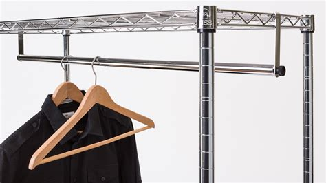 Shelf With Rod For Hanging Clothes by Clothes Bar For Hanging Garments Clothes Hanging Bar