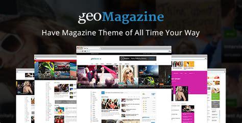 wp theme blog magazine geo magazine modern responsive newspaper news portal