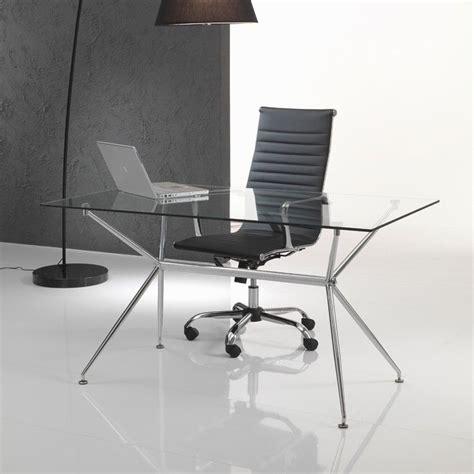 scrivania in vetro per ufficio scrivania da ufficio in vetro e metallo cromato