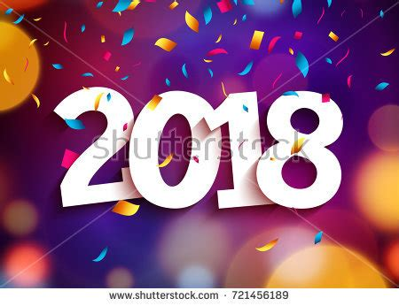 new year 2018 template happy new year 2018 background decoration stock vector