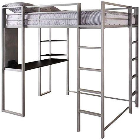 amazon loft bed with desk dhp abode full loft bed over workstation desk