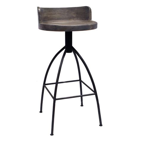 Wood Swivel Bar Stools by Wood And Metal Swivel Bar Stools Implausible Industrial