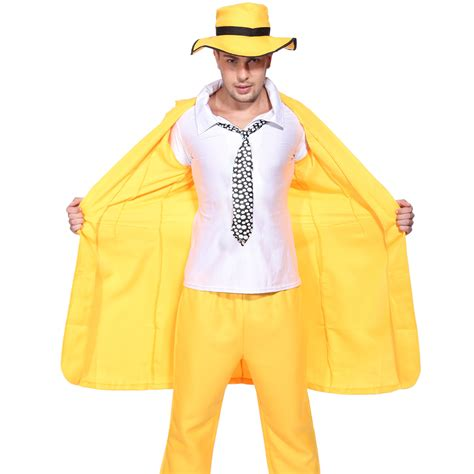 90s fancy dress costumes ebay 90s adult mens yellow gangster zoot suit the mask jim