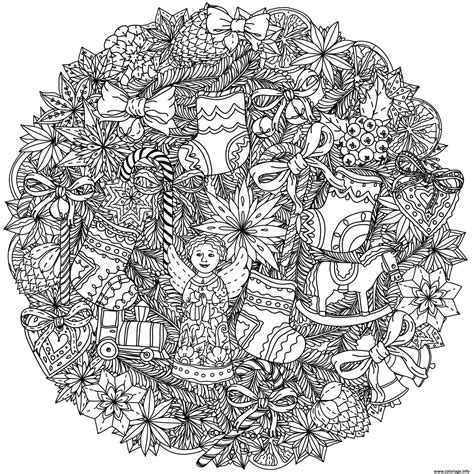 Coloriage Adulte Noel by Coloriage Adulte Mandala Noel Complexe Jecolorie